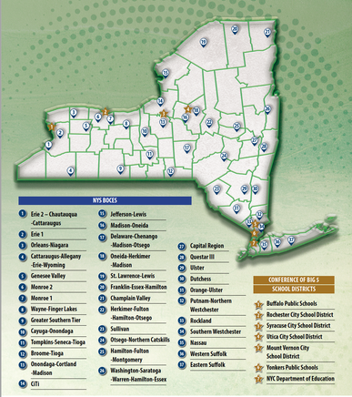 Map of NYS BOCES